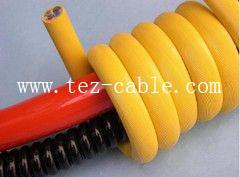 PUR屏蔽型螺旋电缆