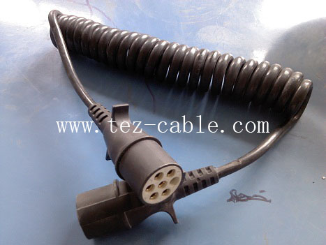 路控设备用螺旋电缆