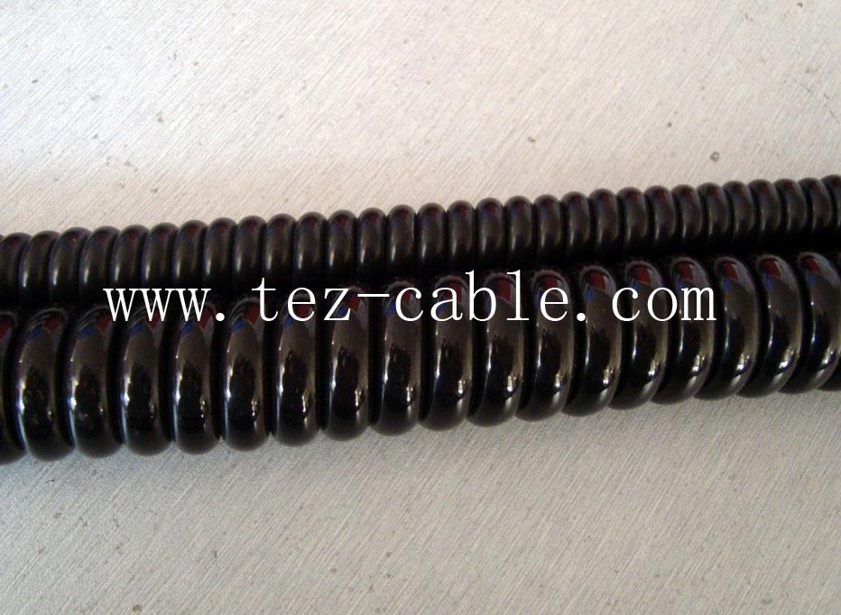 汽车七芯螺旋电缆