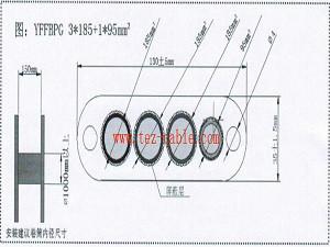斗轮机动力电缆卷筒器专用扁电缆